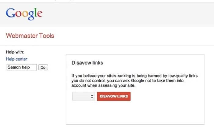 cách Disavow Links link xấu